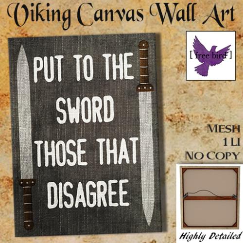 [ free bird ] Put To The Sword Canvas Ad