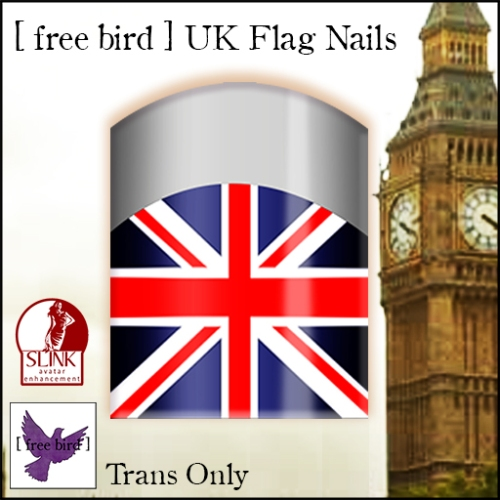 [ free bird ] UK Flag Nails Ad