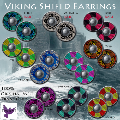[ free bird ] Viking Shield Earrings Ad