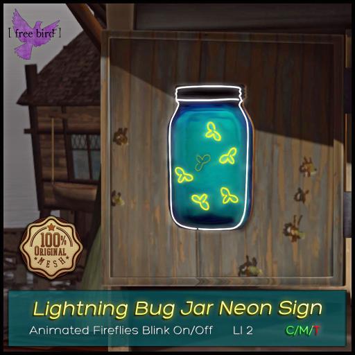 Lightning Bug Jar Neon Sign Ad V2