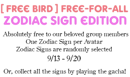 zodiac free for all