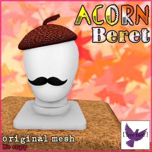 [ free bird ] Acorn Beret Ad