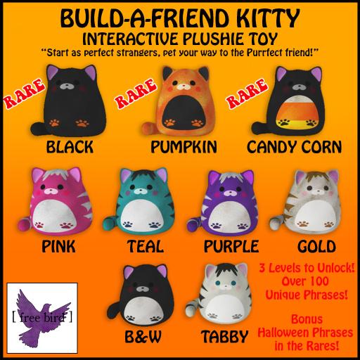 [ free bird ] Build-a-Friend Kitty Gatcha Sign - Halloween