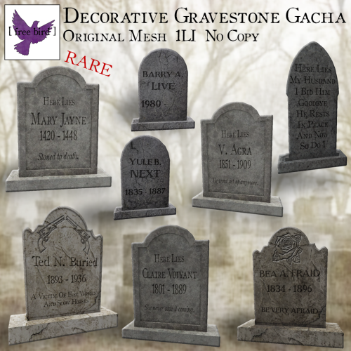 [ free bird ] Decorative Gravestone Gacha Ad