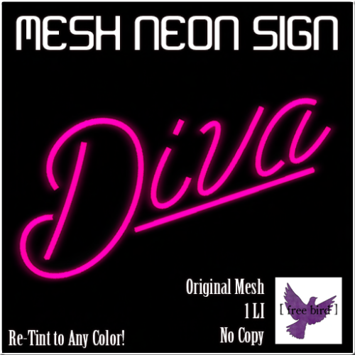 [ free bird ] Diva Neon Sign Ad