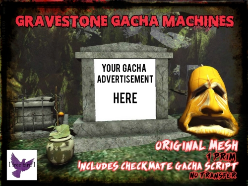 [ free bird ] Gravestone Gacha Machine