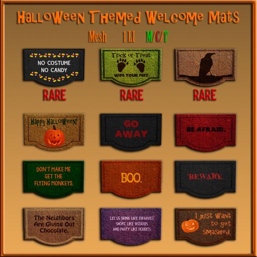 [ free bird ] Halloween Themed Welcome Mats Gatcha