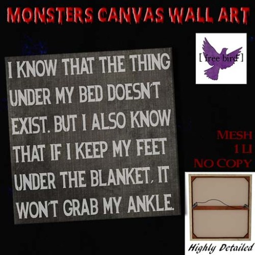 [ free bird ] Monsters Canvas Wall Art Ad