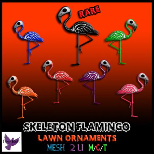 [ free bird ] Skeleton Flamingo Lawn Ornament Gacha Ad