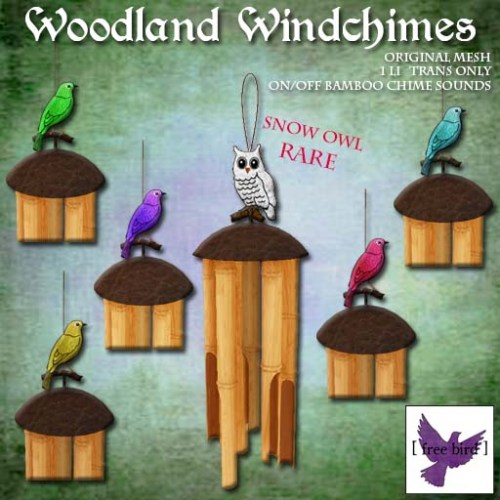 [ free bird ] Woodland Windchimes Gacha Ad