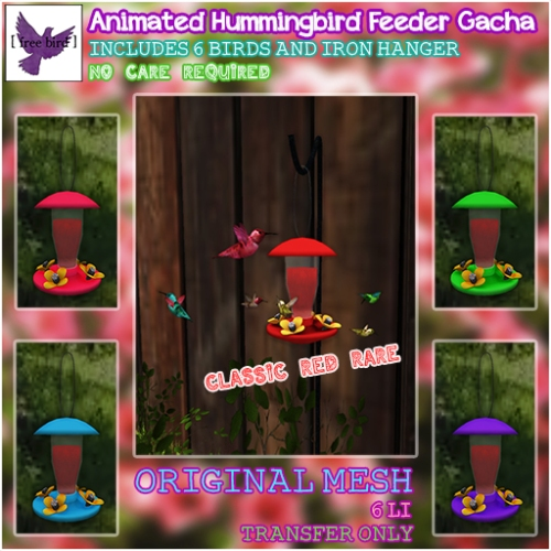 [ free bird ] Animated Hummingbird Feeder Ad
