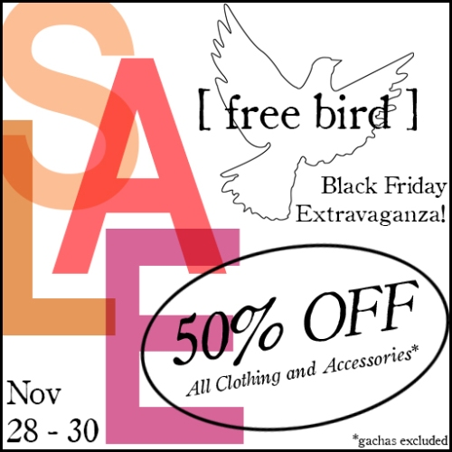 [ free bird ] Black Friday Sale
