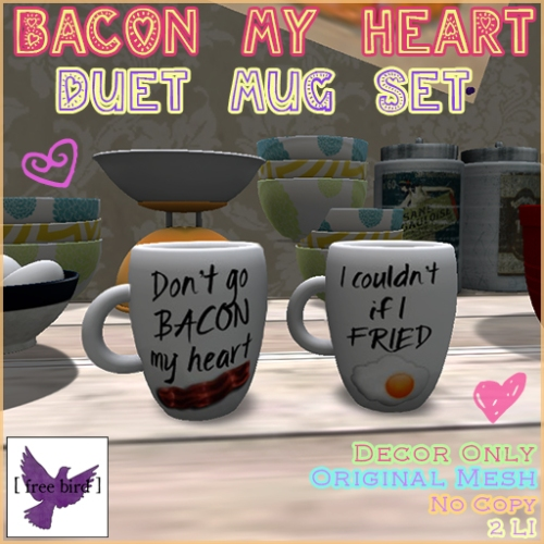 [ free bird ] Don't Go Bacon Cup Set Advertisement