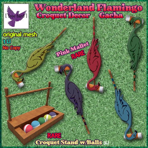 [ free bird ] Flamingo Croquet Set Ad