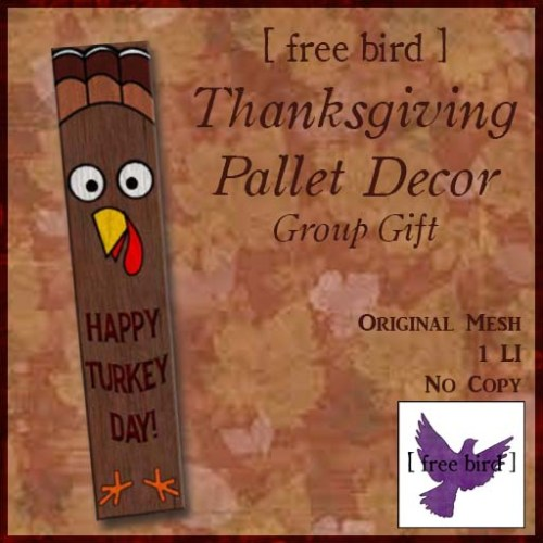 [ free bird ] Happy Turkey Day Pallet Decor Ad