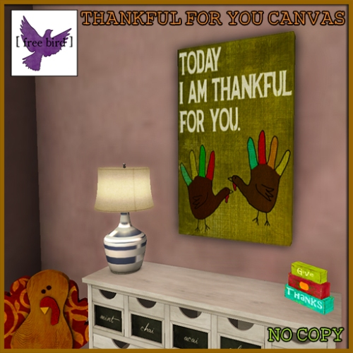 [ free bird ] Thankful For You Canvas Ad