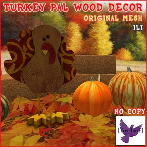 [ free bird ] Turkey Pal Wood Decor Ad