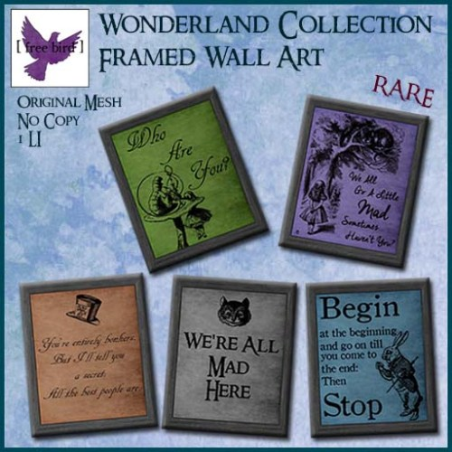 [ free bird ] Wonderland Collection Wall Art Ad