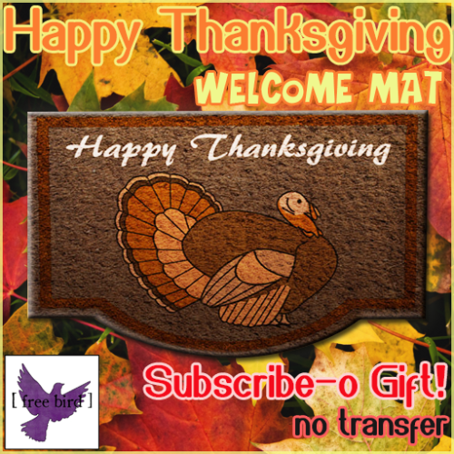 Happy Thanksgiving Welcome Mat Subscribe-o Gift