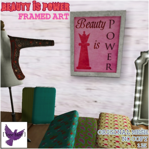[ free bird ] Beauty Is Power Picture Ad