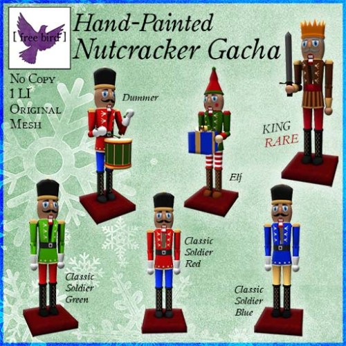 [ free bird ] Hand-Painted Nutcracker Gacha Ad