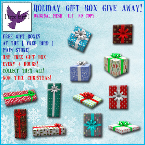 [ free bird ] Holiday Gift Box Give Away Ad