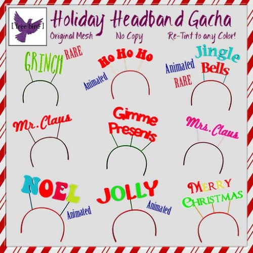 [ free bird ] Holiday Headband Gacha Ad