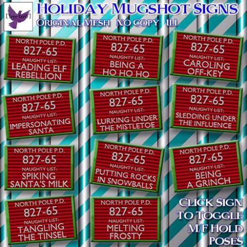 [ free bird ] Holiday Mugshot Signs Ad