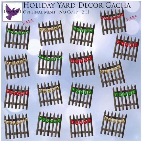 [ free bird ] Holiday Yard Decor Gacha Ad