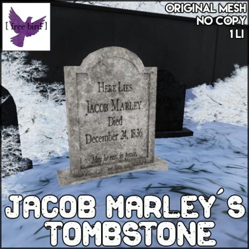 [ free bird ] Jacob Marley's Tombstone Ad