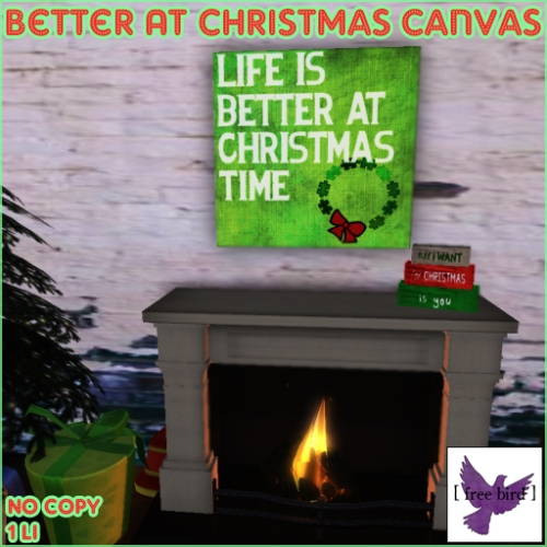 [ free bird ] Life Is Better At Christmas Canvas Ad