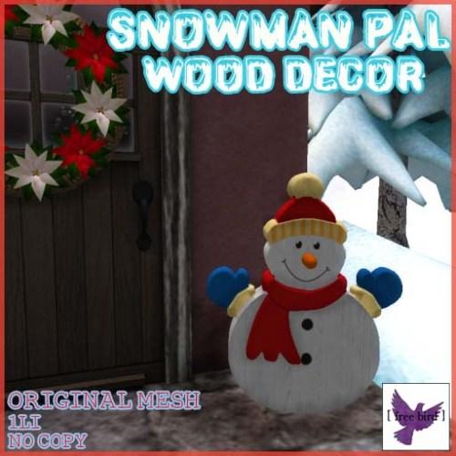 [ free bird ] Snowman Pal