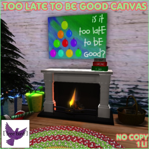 [ free bird ] Too Late To Be Good Canvas Ad