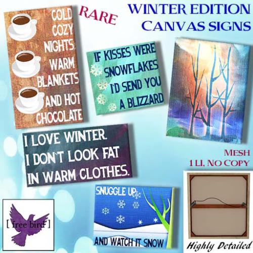 [ free bird ] Winter Edition Canvas Gacha Ad