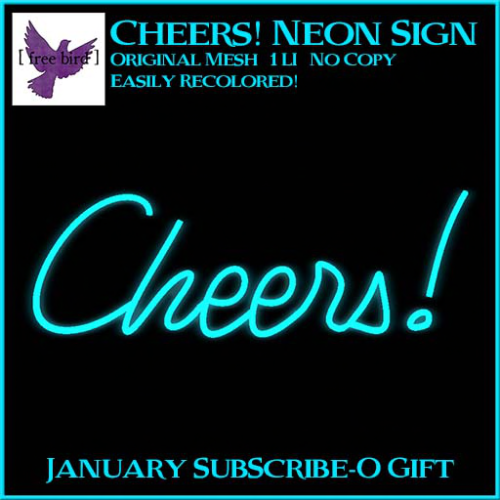 [ free bird ] Cheers! Neon Sign Ad