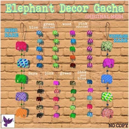 [ free bird ] Hanging Elephant Decor Gacha Ad