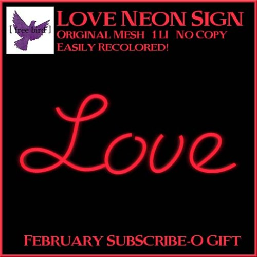[ free bird ] Love Neon Sign Ad