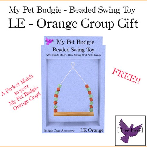 [ free bird ] My Pet Budgie LE Orange Swing - Group Gift