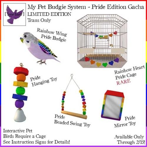 [ free bird ] My Pet Budgie LE Pride Edition Gacha