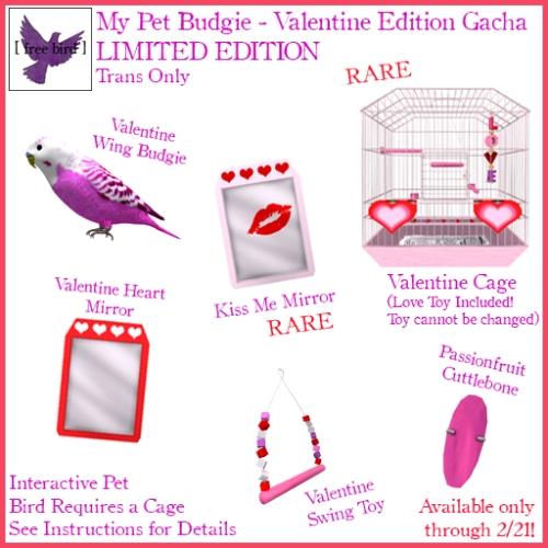 [ free bird ] My Pet Budgie - Valentine Edition Gacha