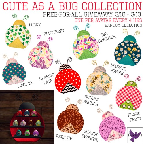 [ free bird ] Cute as a Bug Free-for-All Giveaway
