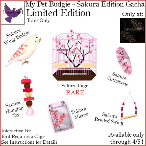 [ free bird ] My Pet Budgie Sakura LE Gacha