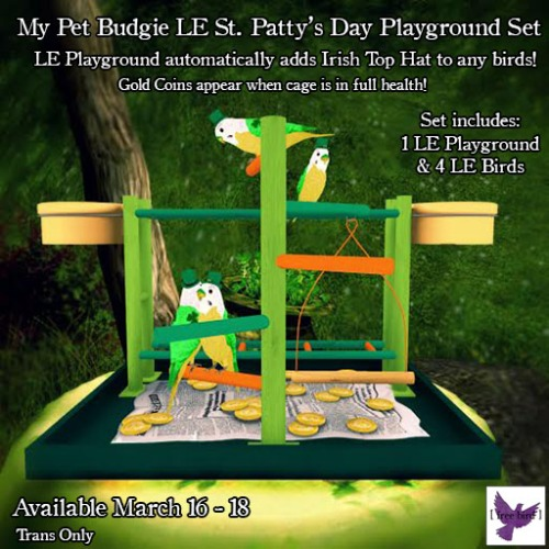 [ free bird ] My Pet Budgie St. Patty's Day LE Playground Set