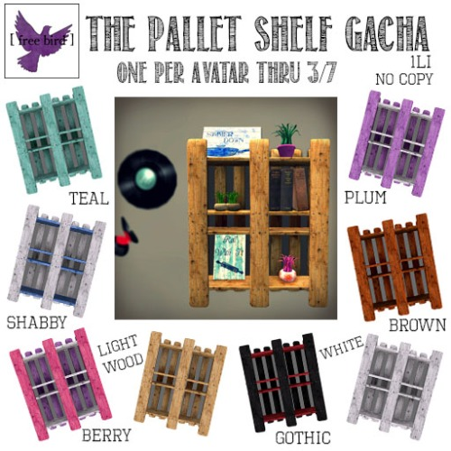 [ free bird ] Pallet Shelf Free-for-All