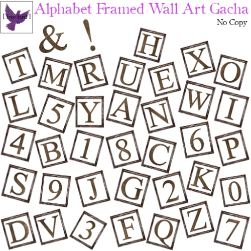 [ free bird ] Alphabet Framed Wall Art Gacha