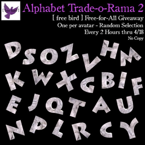 [ free bird ] Alphabet Trade-o-Rama Free-for-All