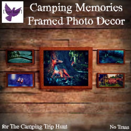 [ free bird ] Camping Memories Framed Photo Decor