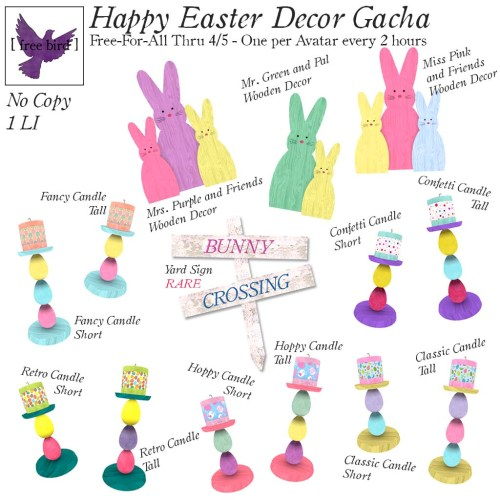 [ free bird ] Happy Easter Decor Gacha Free-For-All Ad