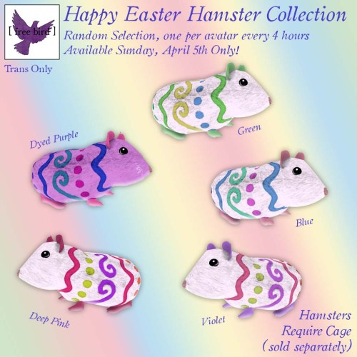 [ free bird ] Happy Easter Hamster Collection Giveaway Ad