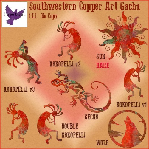 [ free bird ] Southwestern Copper Art Gacha Ad